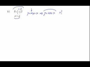 Cálculo de la ecuación de una recta a partir de pendiente y punto