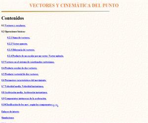 Vectores y cinemática del punto ( Apuntes de Física)