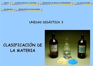Clasificación de la materia (unidad didáctica)