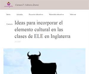 Ideas para incorporar el elemento cultural en las clases de ELE en Inglaterra