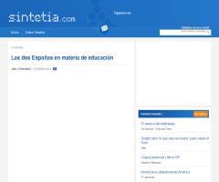 Las dos Españas en materia de educación. Un análisis de Abel Fernández | Sintetia