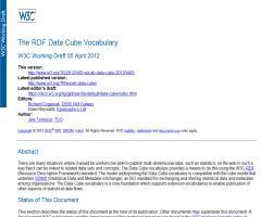 The W3C RDF Data Cube Vocabulary