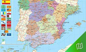 Mapa político de España escala  1:3.000.000