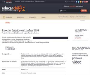 Pinochet detenido en Londres 1998 (Educarchile)