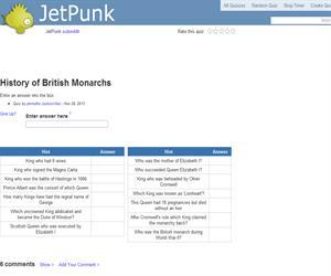 History of British Monarchs