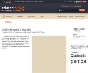 Quebrada Sector Copaquilla (Educarchile)