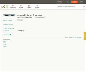 Human Biology - Breathin?