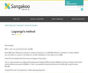 Lagrange's method