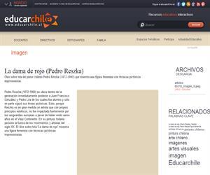 La dama de rojo (Pedro Reszka) (Educarchile)