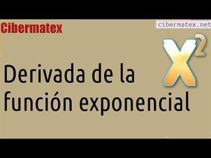Derivada de la función exponencial. Cibermatex
