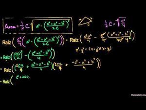 Prueba de la Fórmula de Herón - Parte 2 (Khan Academy Español)