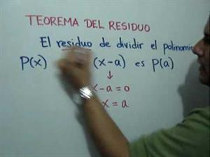 Aplicación del Teorema del Residuo (JulioProfe)