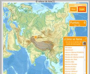 Relieve de Asia - Mapa interactivo