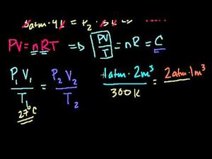 Ecuación general de los gases - Ejemplo 2 (Khan Academy Español)