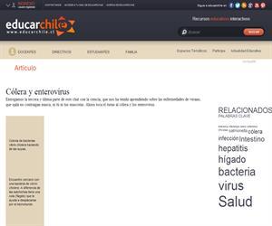 chat con la ciencia: cólera y enterovirus (Educarchile)