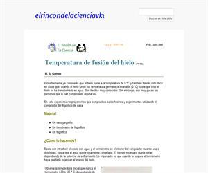Temperatura de fusión del hielo