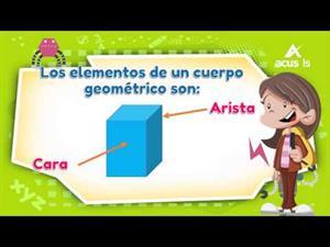 Objetos y formas geométricas. Elementos de los cuerpos geométricos. Editorial Anaya