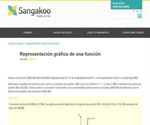 Representación gráfica de una función (Sangakoo)