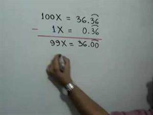 Fracción generatriz de un número decimal infinito periódico puro (JulioProfe)