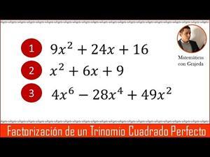 Aprende a Factorizar un Trinomio Cuadrado Perfecto. | Video 91