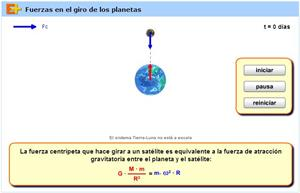 Fuerzas en el giro de satélites (educaplus.org)