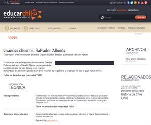 Grandes chilenos. Salvador Allende (Educarchile)