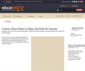 Cestería, Museo Padre Le Paige, San Pedro de Atacama (Educarchile)