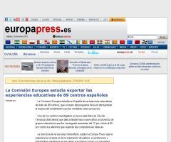 La Comisión Europea estudia exportar las experiencias educativas de 89 centros españoles - EP