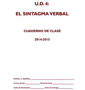 Sintagma Verbal. Cuaderno de Clase por Isabel Yagüe (Aula Z)