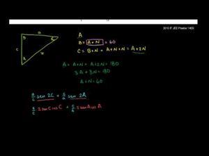 Problema 1 de trigonometría del iit jee (Khan Academy Español)