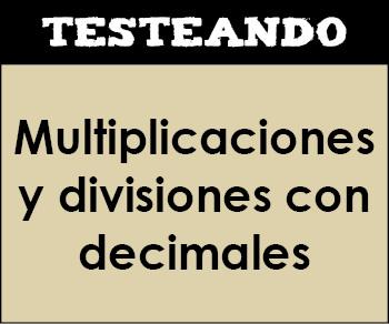 Multiplicaciones y divisiones con decimales. 5º Primaria - Matemáticas (Testeando)