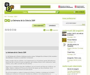 La Setmana de la Ciència 2009 (Edu3.cat)