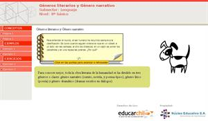 Géneros literarios y Género narrativo. NEFontec (Educarchile)