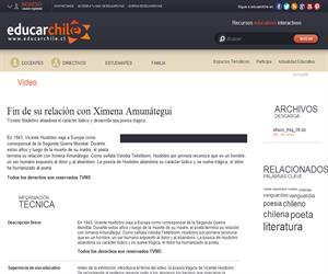 Fin de su relación con Ximena Amunátegui (Educarchile)
