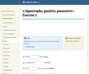 Saxon Genitive - 's (englisch-hilfen.de)