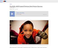 For Kids, Self-Control Factors Into Future Success | NPR
