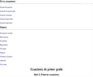 Primeras ecuaciones