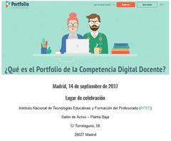 El Portfolio de la Competencia Digital Docente (14 de septiembre en INTEF)