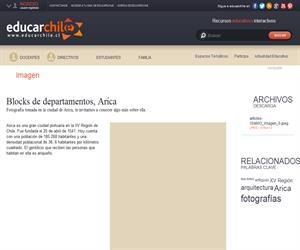 Blocks de departamentos, Arica (Educarchile)