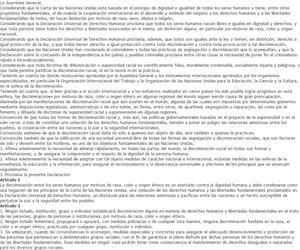Declaración de las Naciones Unidas sobre le eliminación de todas las formas de discriminación racial