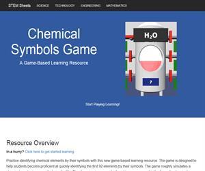 Chemical Symbols Game