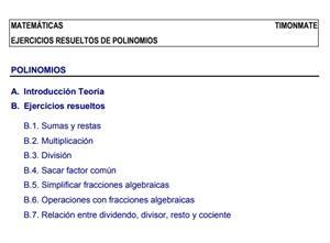 Ejercicios resueltos sobre polinomios (Juan J. Pascual Redondo)