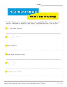 Proverbs and Adages: What's the Meaning?