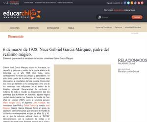 Efeméride natalicio de Gabriel García Márquez (Educarchile)
