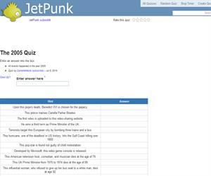 The 2005 Quiz