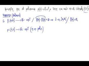 Raíces de polinomios (Teorema de Bolzano)