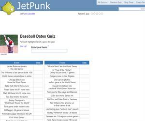 Baseball Dates Quiz