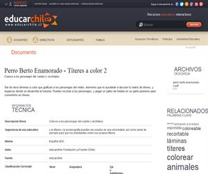 Perro Berto Enamorado - Títeres a color 2 (Educarchile)