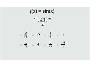 Practica derivadas e integrales en la red  (Thatquiz.org)