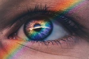 El sentido de la vista: Peonzas coloreadas. Práctica para niños de 4 a 7 años